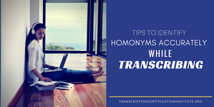 Identify Homonyms Accurately