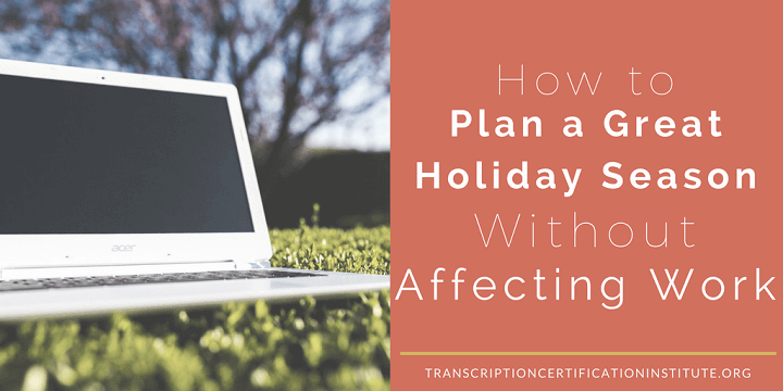 plan a great holiday season