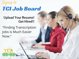 transcription job board
