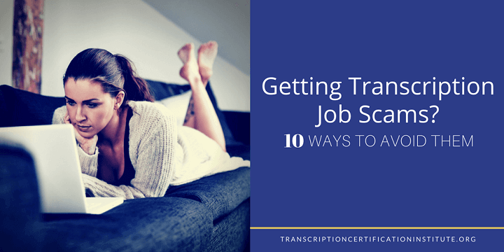 avoid transcription job scams