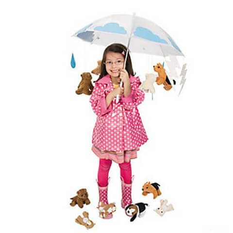 13. Last-Minute Raining Cats and Dogs Costumes for Girls