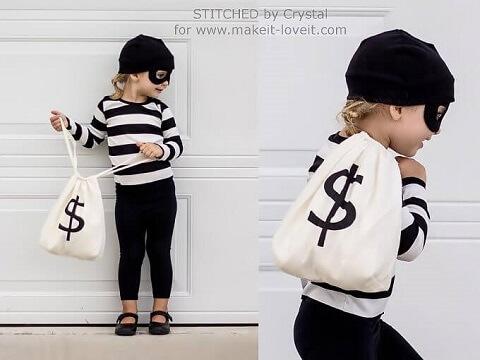 18. Little Bandit Costume for Halloween