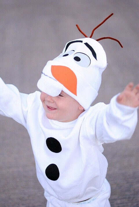 19. Olaf Halloween Costume for Your Little Ones
