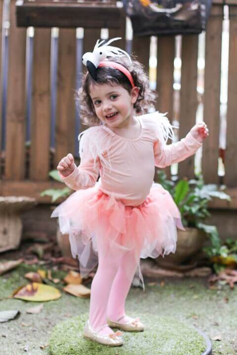 2. Pretty Flamingo Toddler Costume Idea for Girls