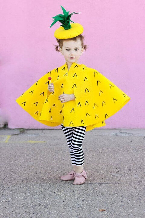 20. Popular Pineapple Costume for Kids