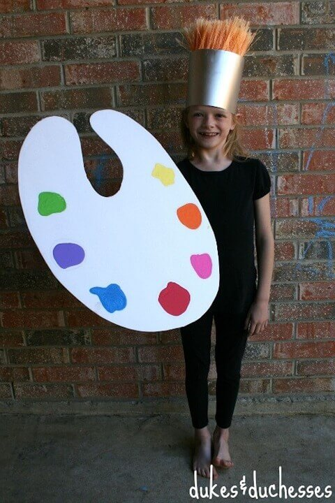 27. Paint Brush: An Artistic Halloween Costume Idea