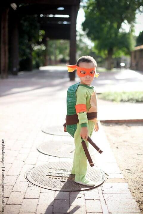28. DIY Teenage Mutant Ninja Turtle Costume for Boys