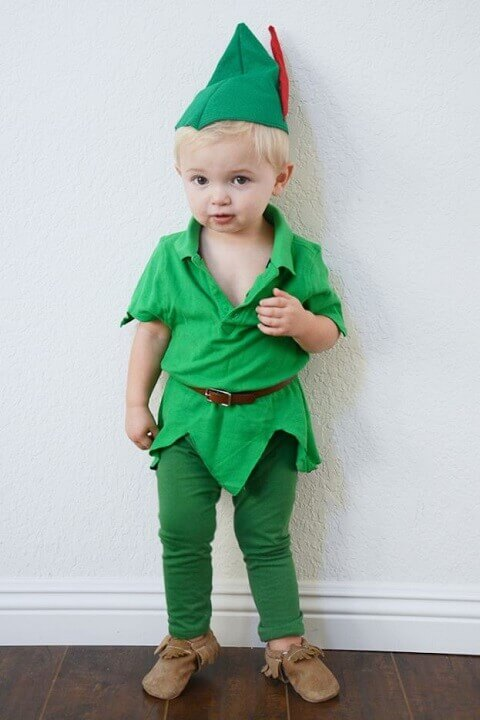 3. Sweet Peter Pan Toddler Halloween Costume for Boys