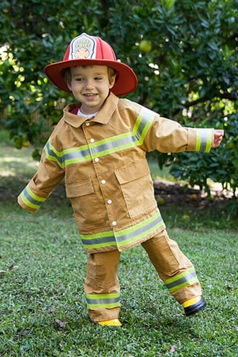 30. Little Firefighter Halloween Costume for Boys