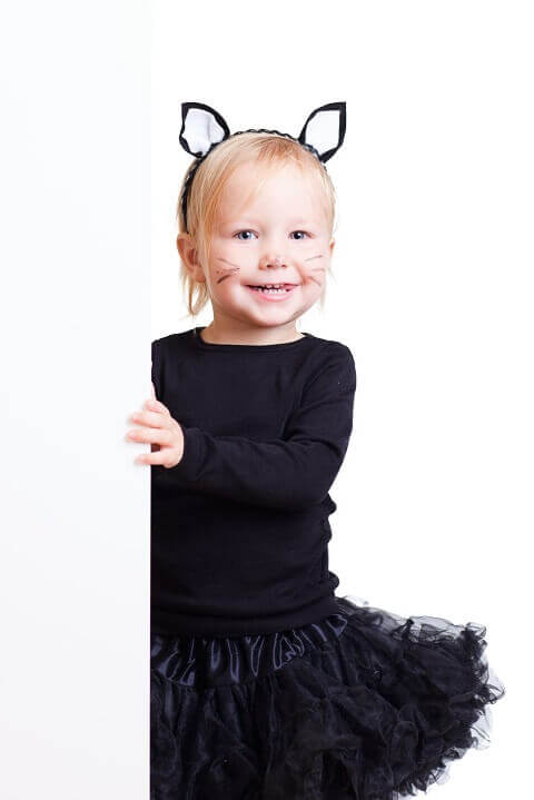 4. Simple Cat Toddler Halloween Costume for Girls