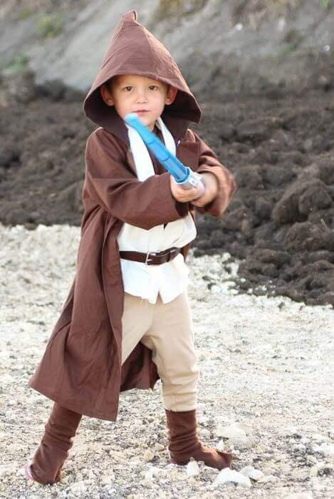 5. DIY Obi-Wan Halloween Costume for Toddler Boy