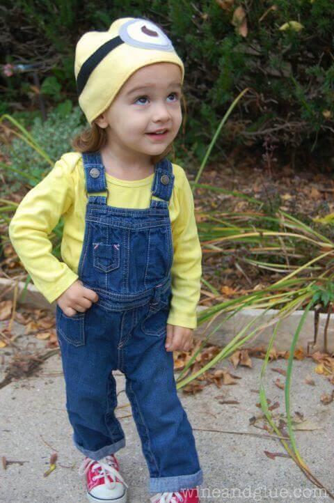 6. Cute Minion Toddler Halloween Costume
